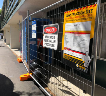 signage asbestos removal